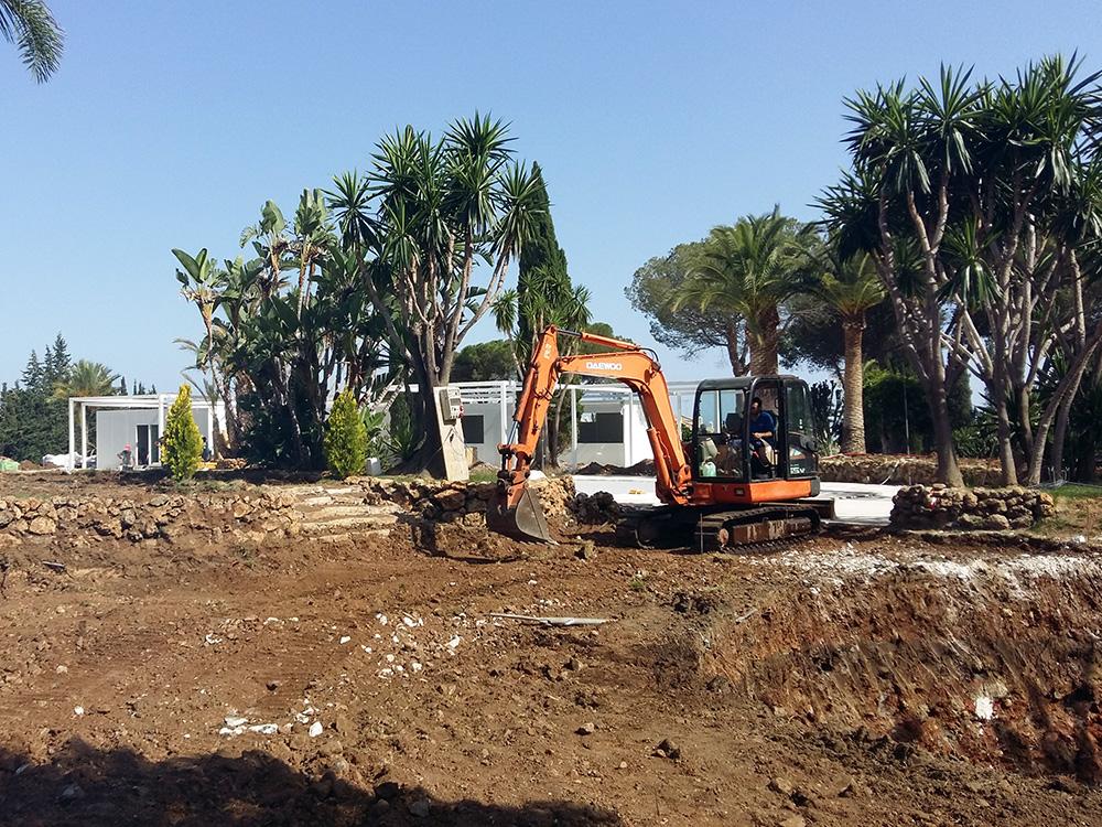 Movimiento de tierras en Nueva Andalucía